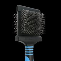 Medium Flexible Wollhaar Bürste - blau