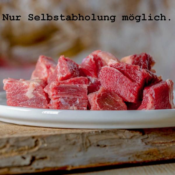 Barfgold Rindfleisch durchwachsen 5kg (gewürfelt)