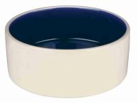 Keramiknapf weiß/ blau