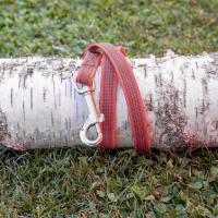Gummierte Nylonführleine 1,2m mit Handschlaufe