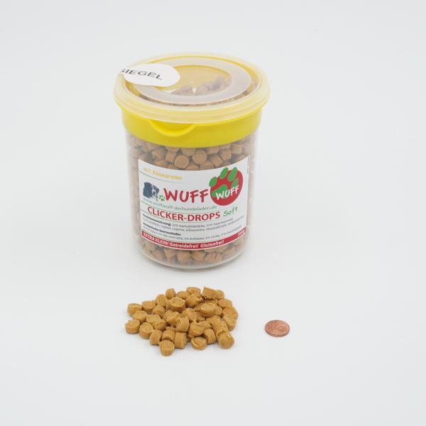 Clicker-Drops Soft Käse 500g (inkl. Vorratsdose - wiederverschließbar)
